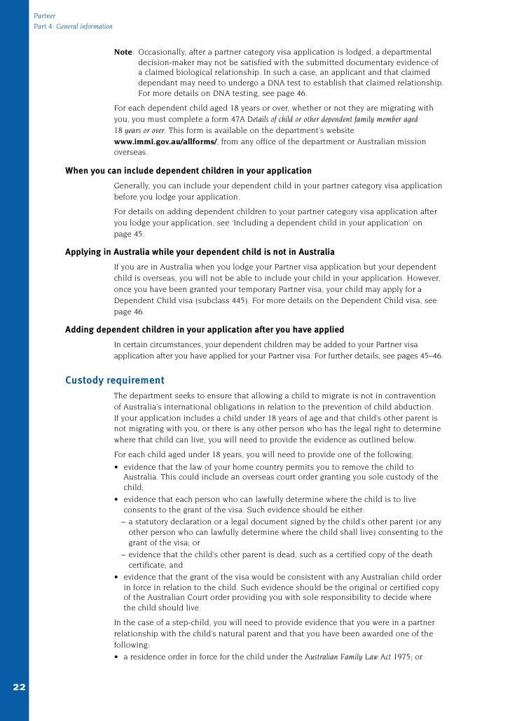 457 partner visa application form