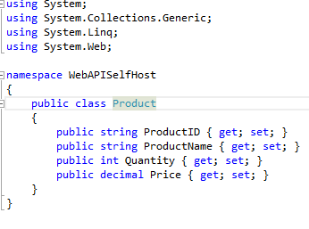 host web api in console application