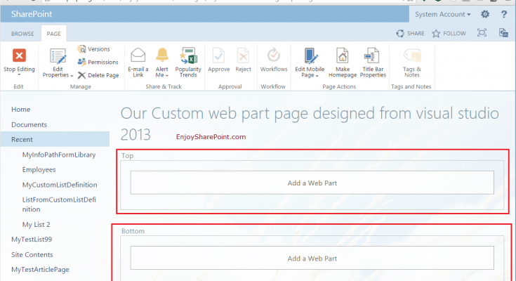 create application page in sharepoint 2013 using visual studio