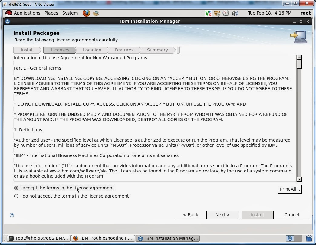 how to install websphere application server