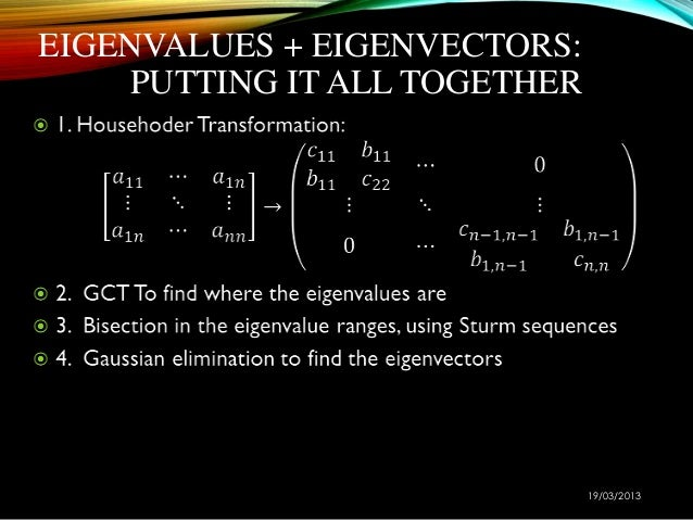 applications of eigenvalues and eigenvectors in real life