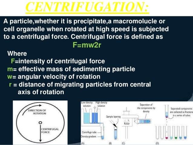 principle and application of centrifugation