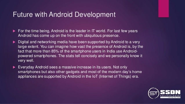 scope of mobile application development