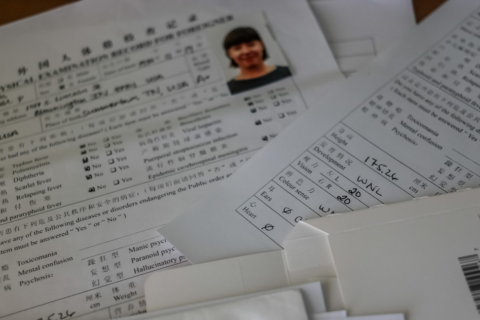 health checkup for visa application