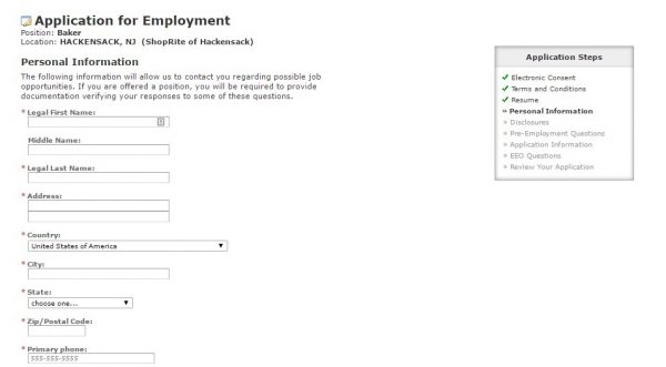 are job applications legally required
