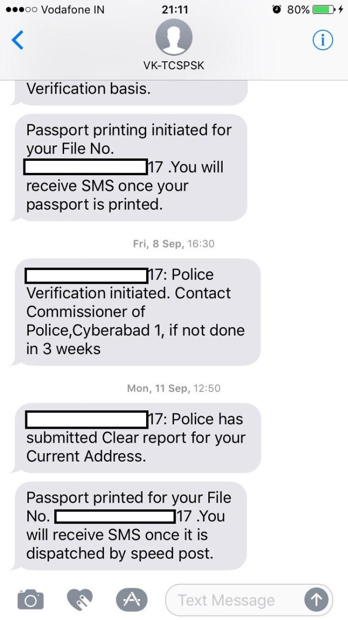 passport application for indian citizen