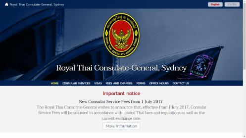 thai consulate sydney visa application