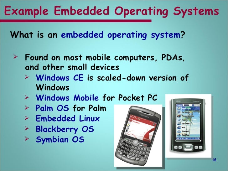 examples of operating system and application software