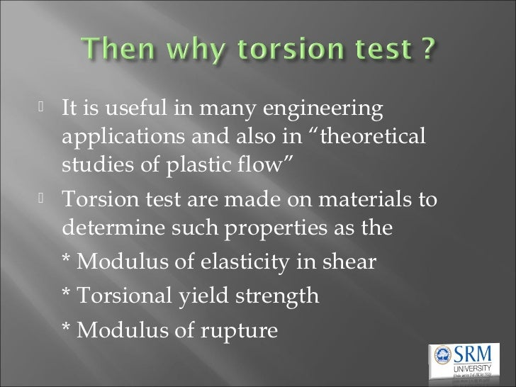 application of torsion in engineering