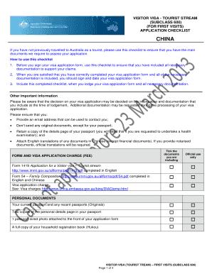 statutory declaration for visa application