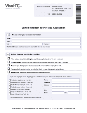 united kingdom visa application form download