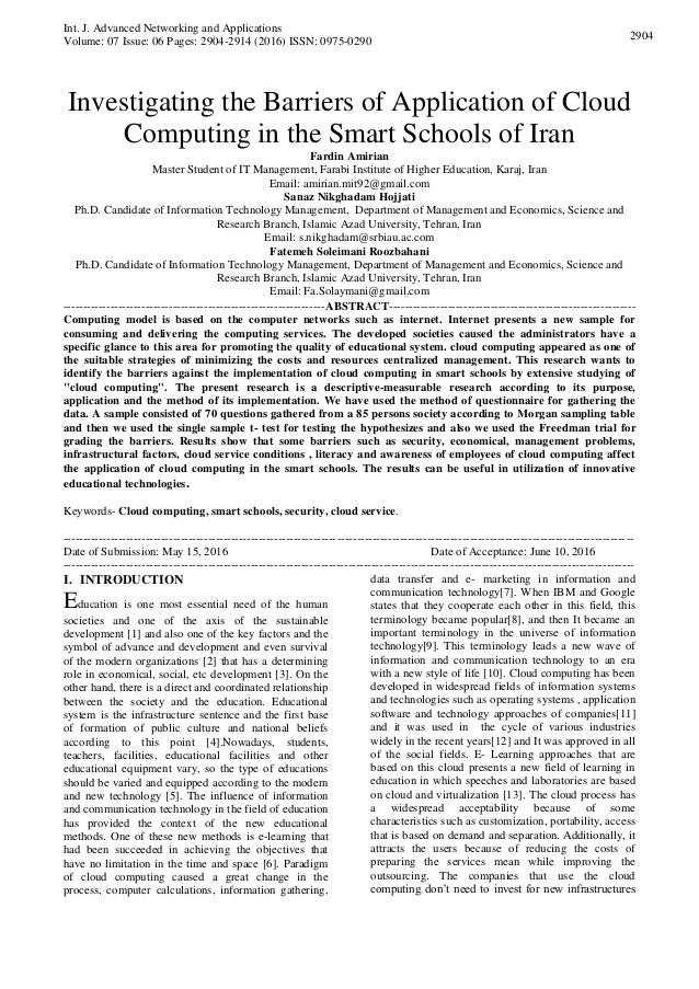 int j advanced networking and applications