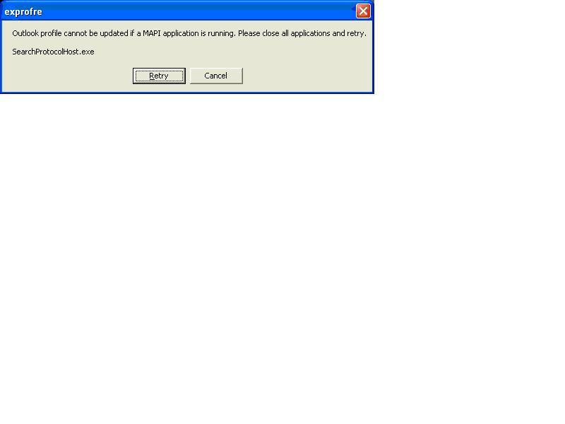 searchprotocolhost exe application error outlook