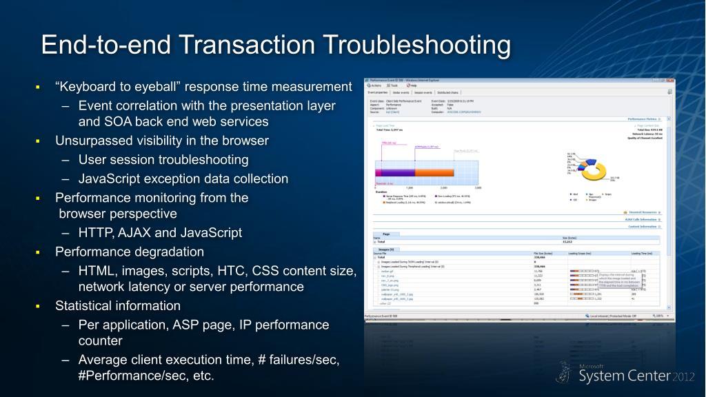 scom 2012 web application transaction monitoring