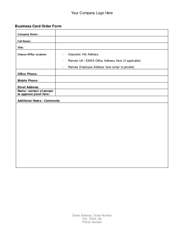 order for sale application form