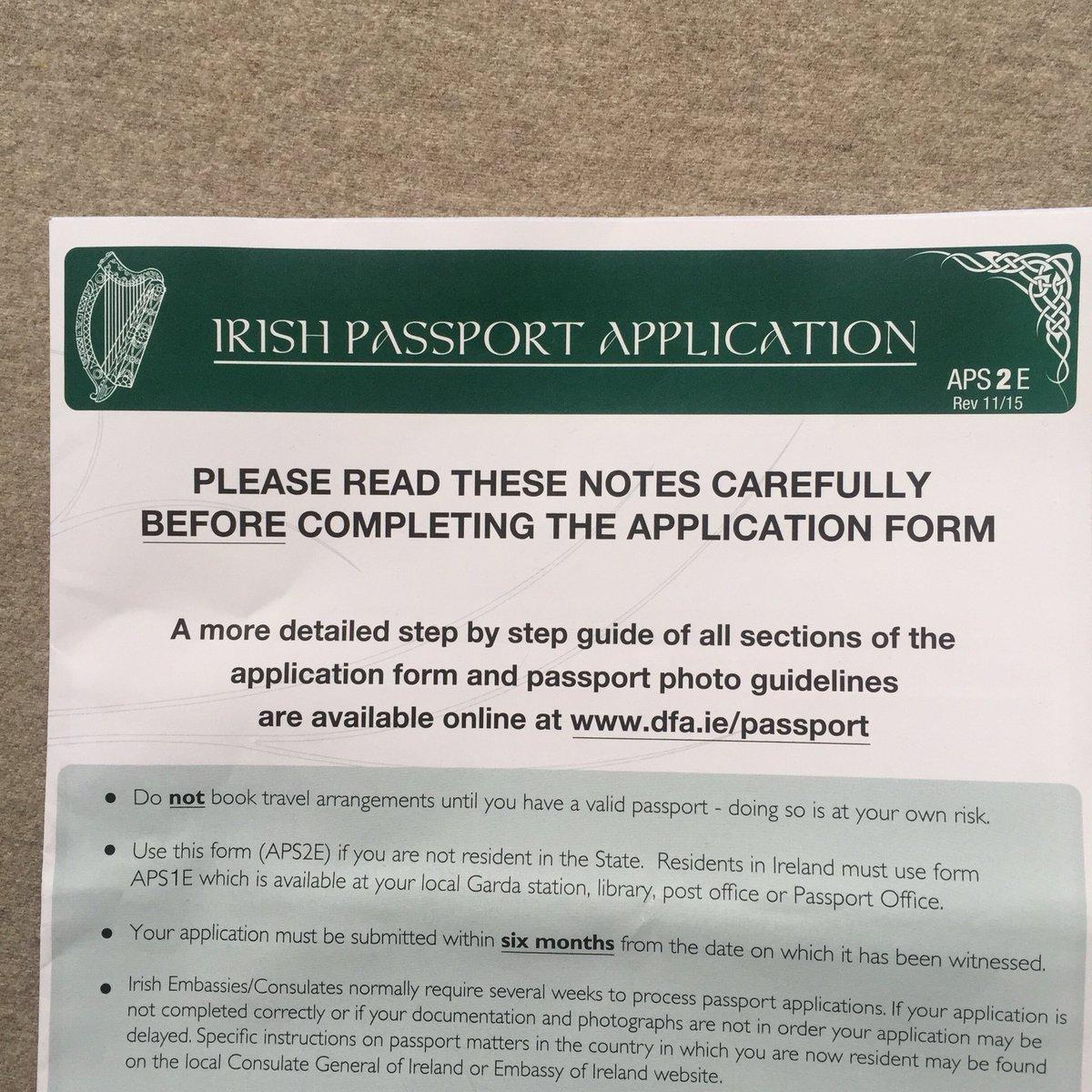 irish passport application form australia