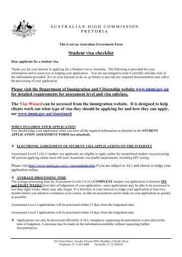 australian immigration visitors visa application form