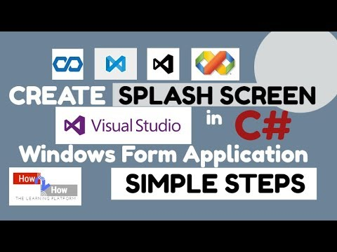 how to create windows application in c#