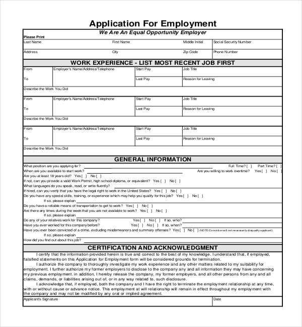generic application form for canada pdf