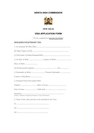 birth certificate application form kenya