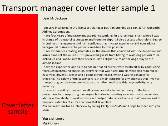 application for the post of manager