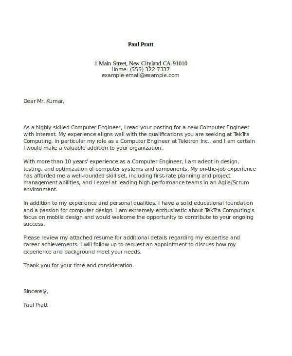 application letter sample for electrical engineer