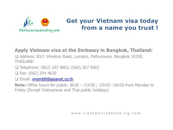 online visa application for bangkok