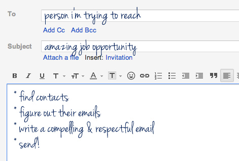 how to write a short email for job application