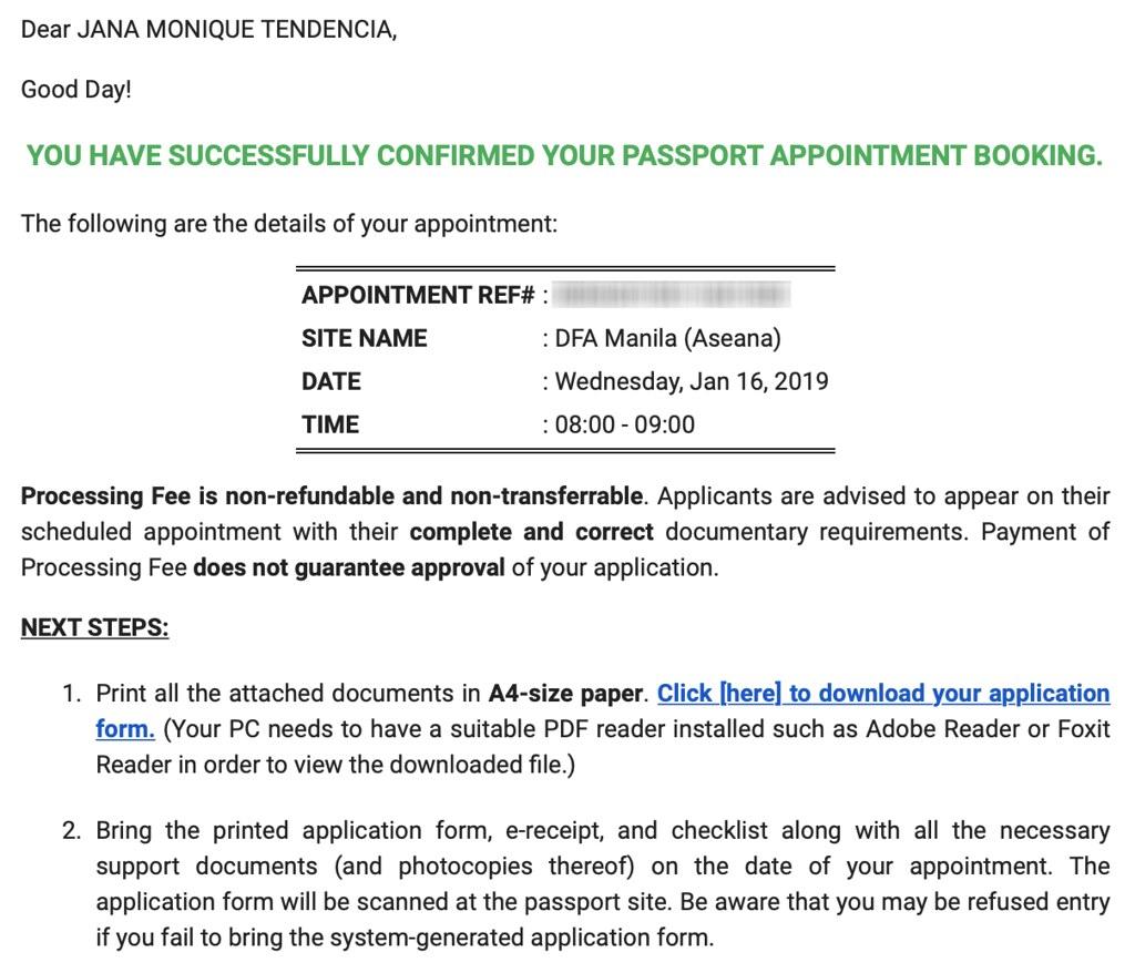 dfa passport renewal application form