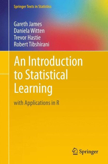 an introduction to statistical learning with applications in r pdf