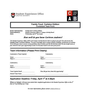 family feud application form australia