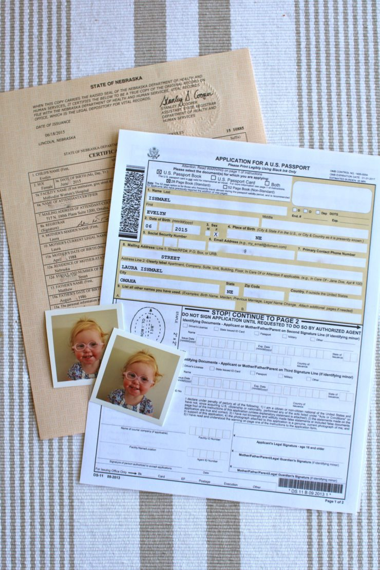 what do i need for passport application