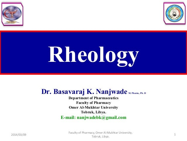 application of rheology in pharmacy pdf