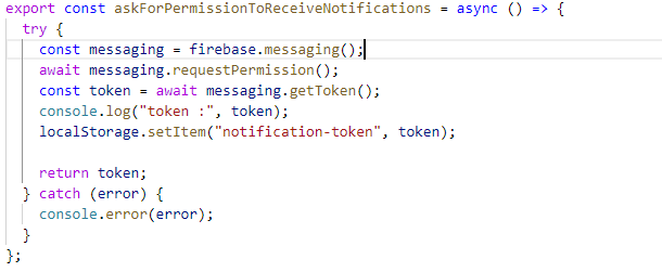 push notification in java web application example