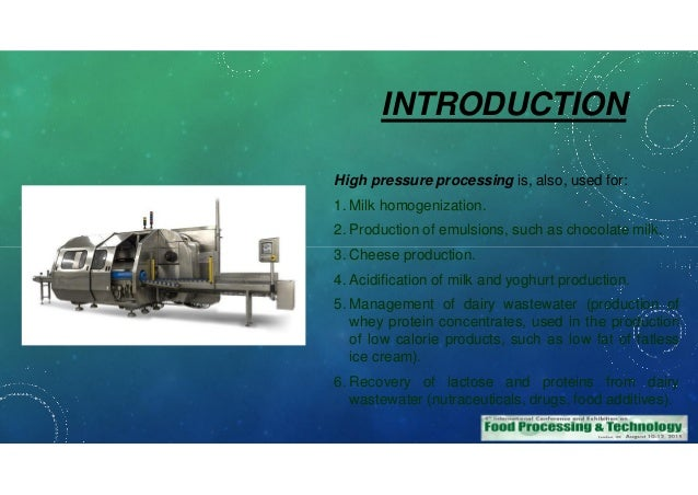 application of high pressure processing