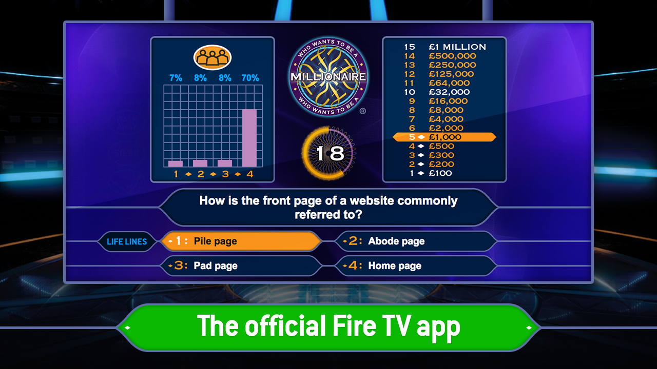 who wants to be a millionaire application 2018