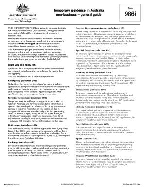australian immigration visa application form 48r