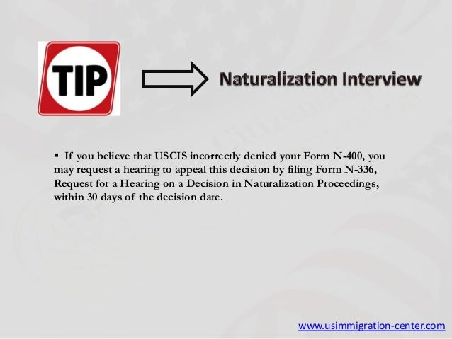 where to send n 400 application
