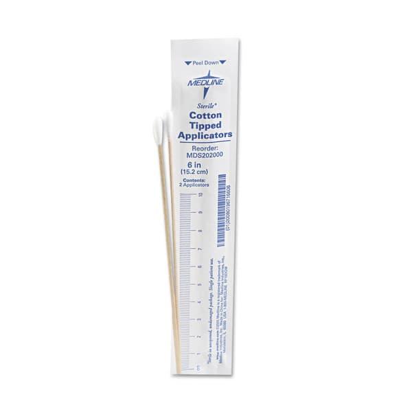 sterile cotton tipped applicators 6 inch