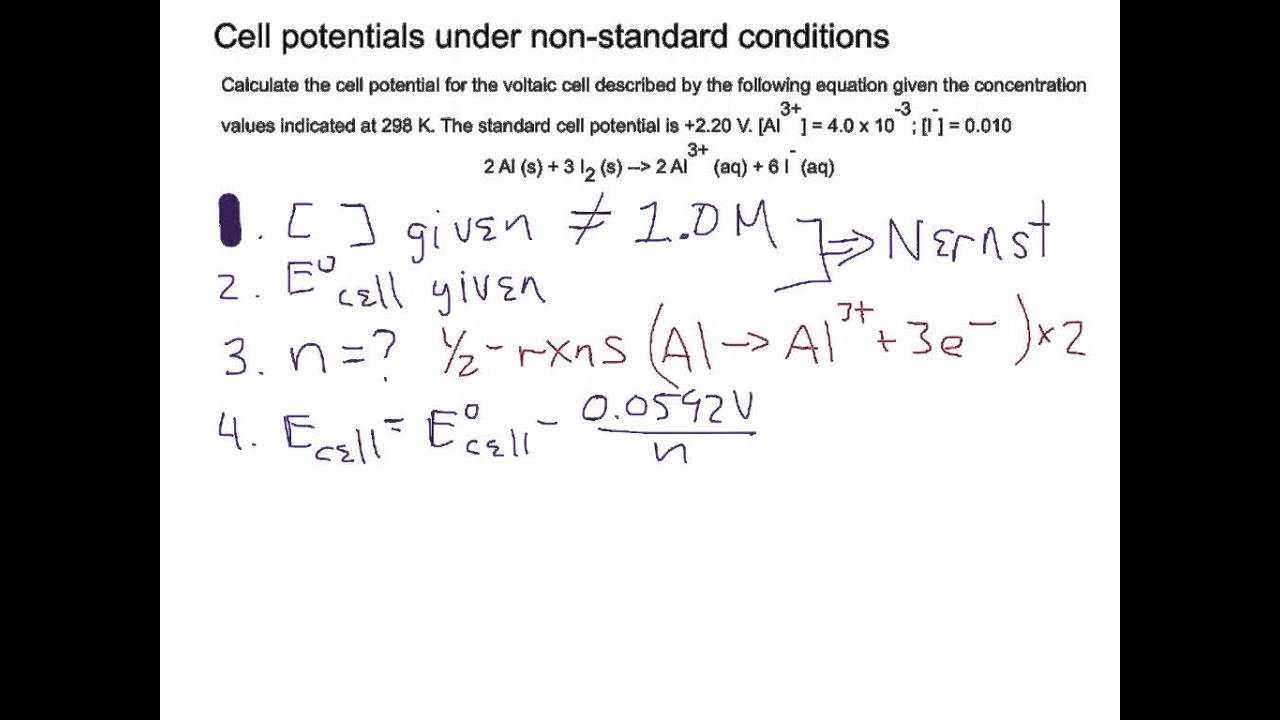 application of nernst equation in electrochemistry