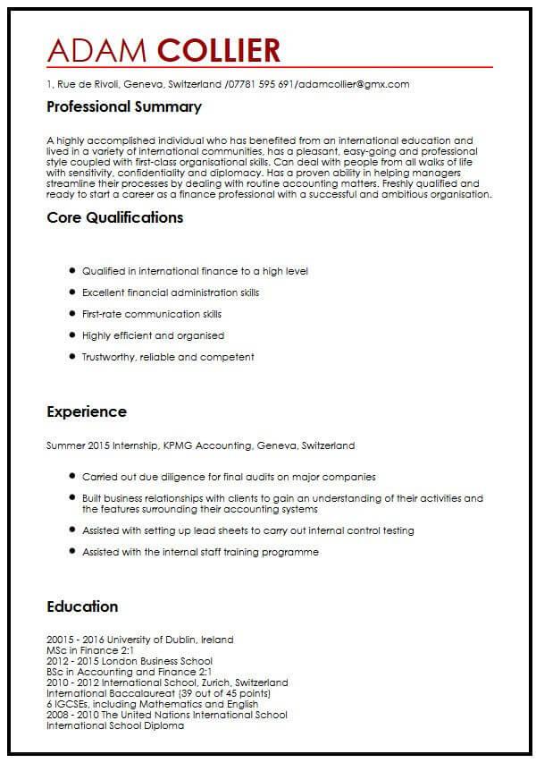 how to write a cv for a job application