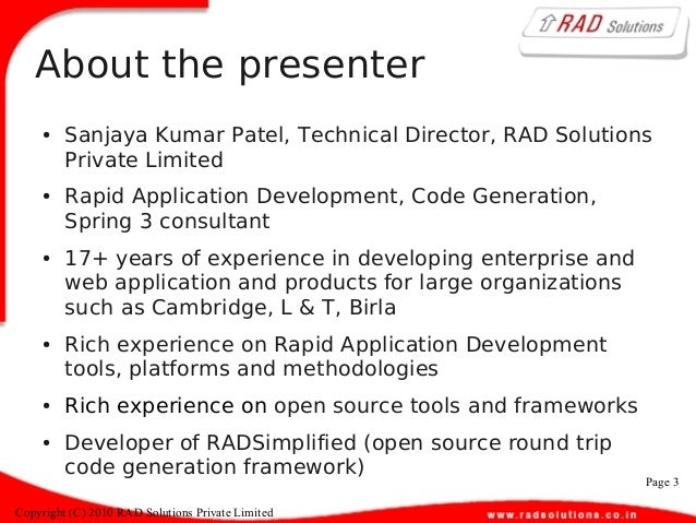 rapid application development tools open source