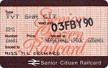 national rail senior railcard application form