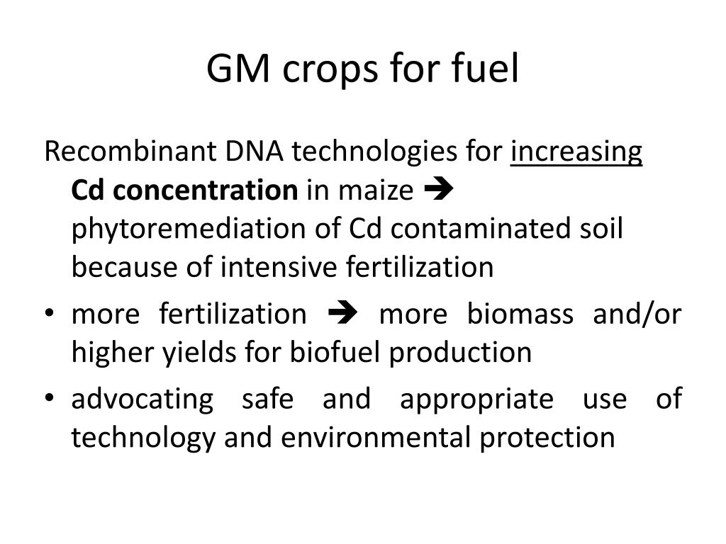 application of recombinant dna technology in agriculture ppt