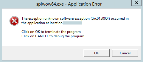 wow 64 exe application error