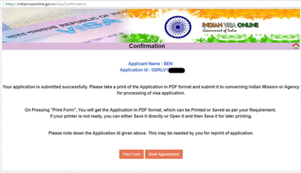 indian visa application form download