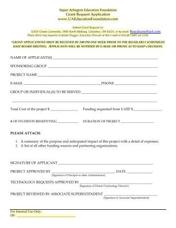 commonwealth foundation grant application form