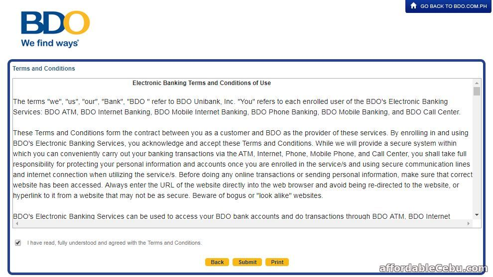 bdo credit card application philippines