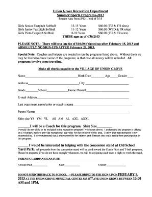 municipal rates concession application form
