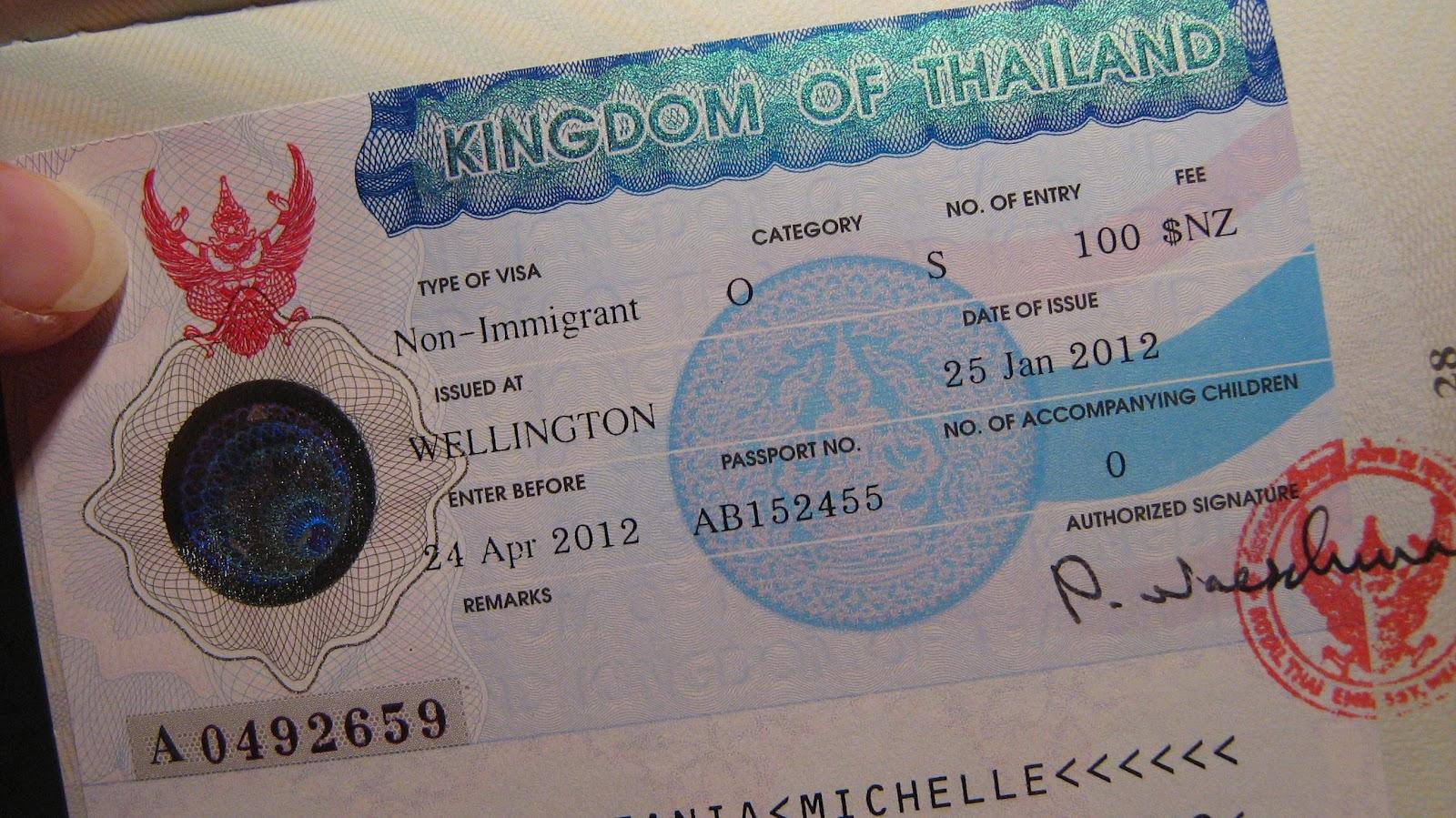 thailand 60 day tourist visa application